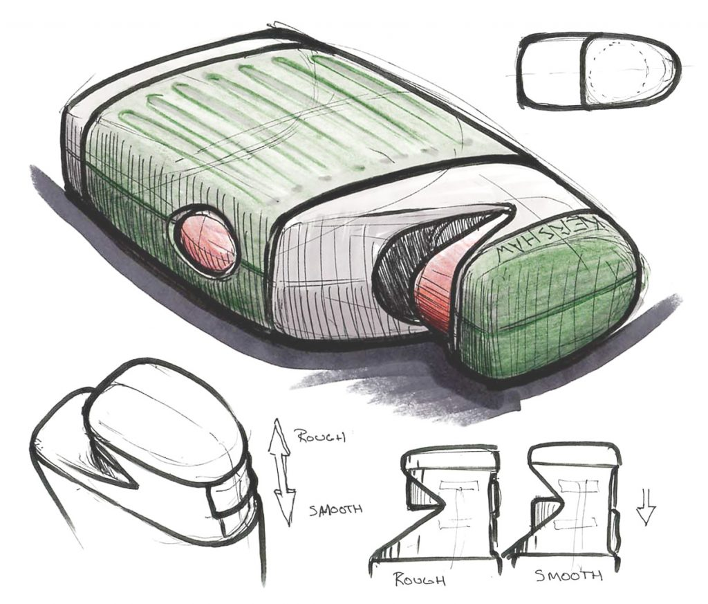 knife sharpener industrial design sketch