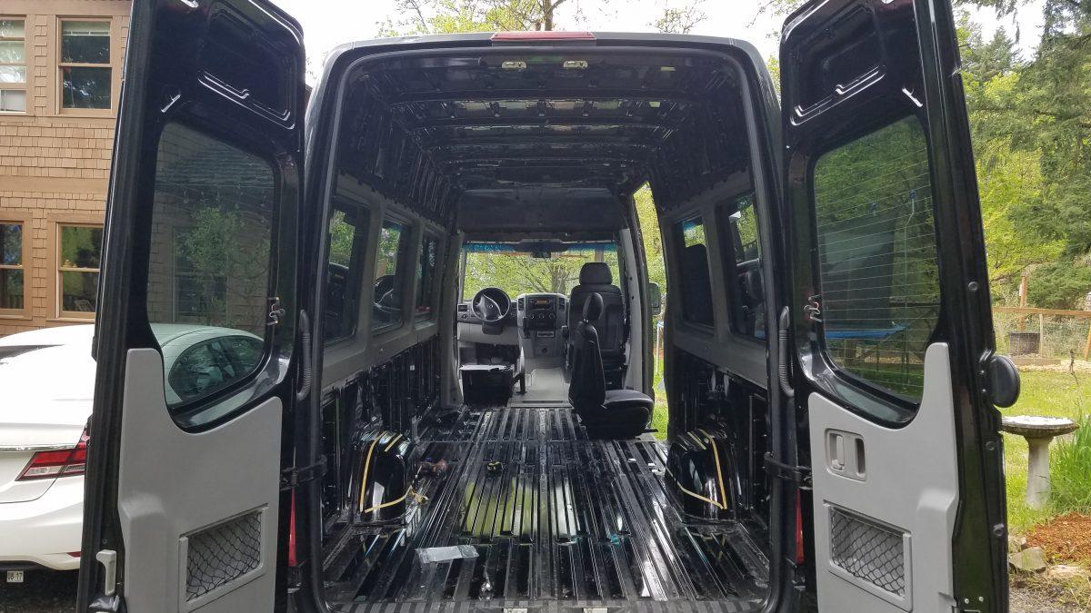 Insulating a Sprinter Van Interior Teardown
