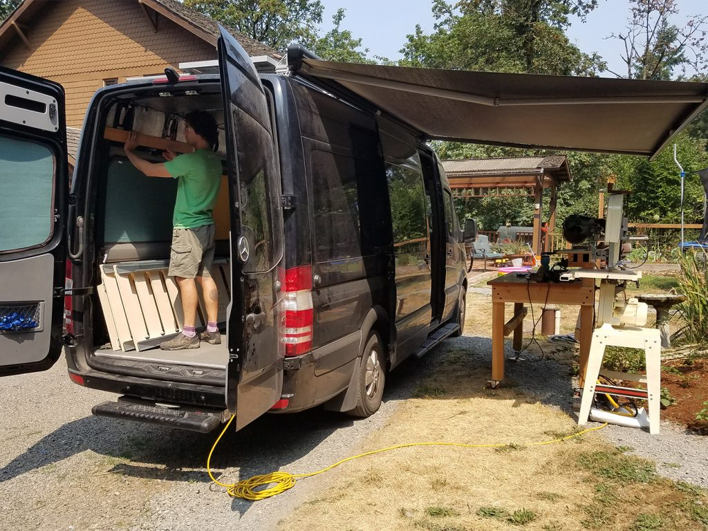sprinter van awning installation