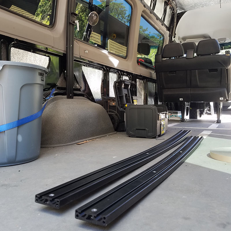 Sprinter Van Conversion Interior Track System