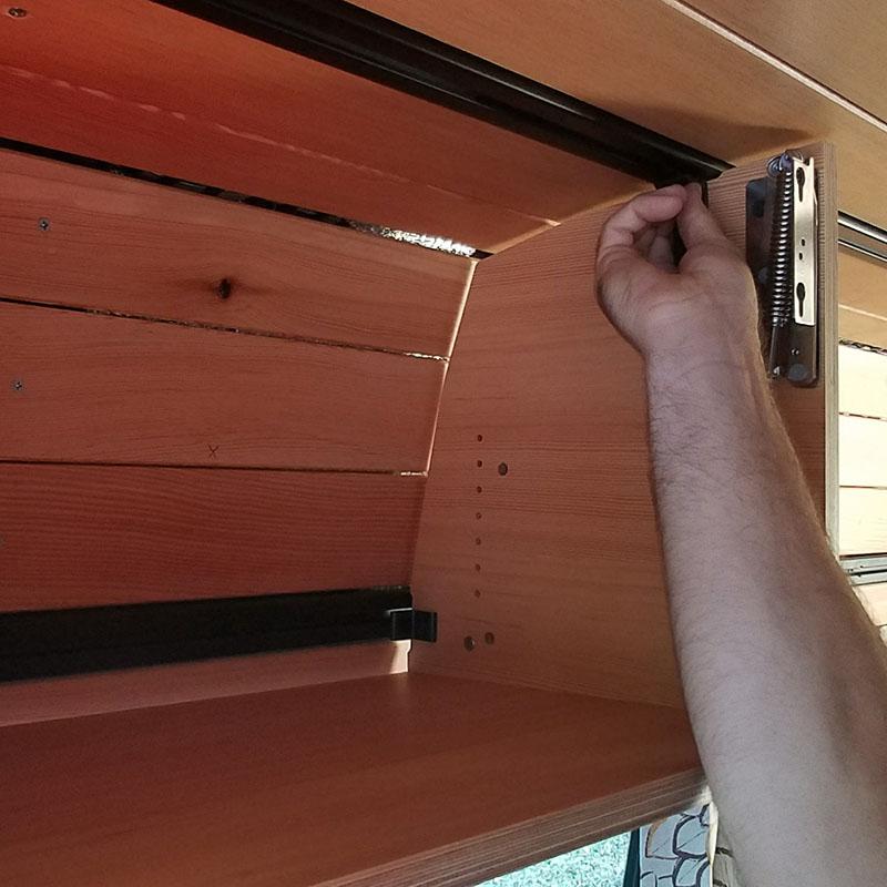 Simple installation, economic construction - Sprinter Van cabinets