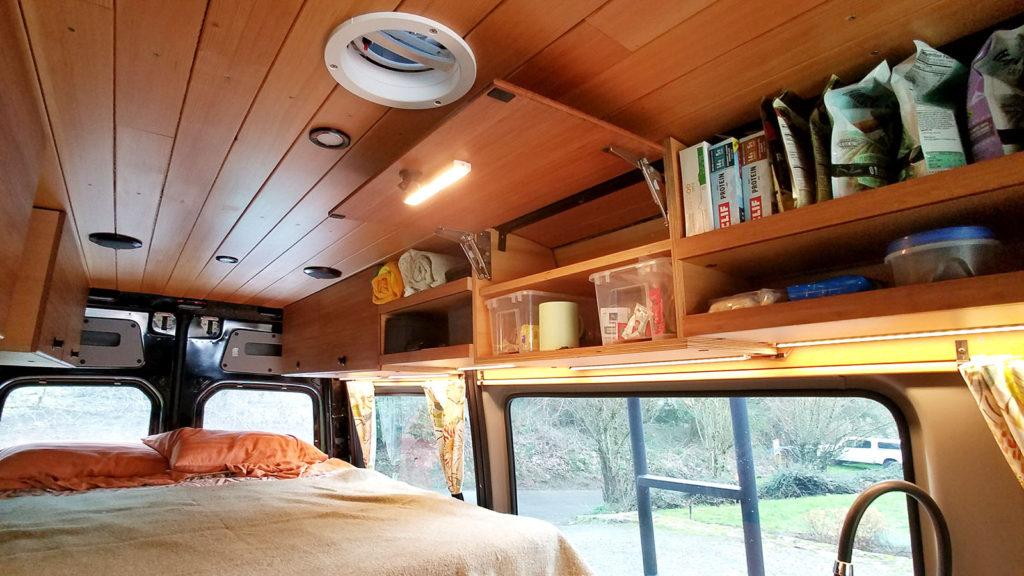 Custom Sprinter Van cabinets