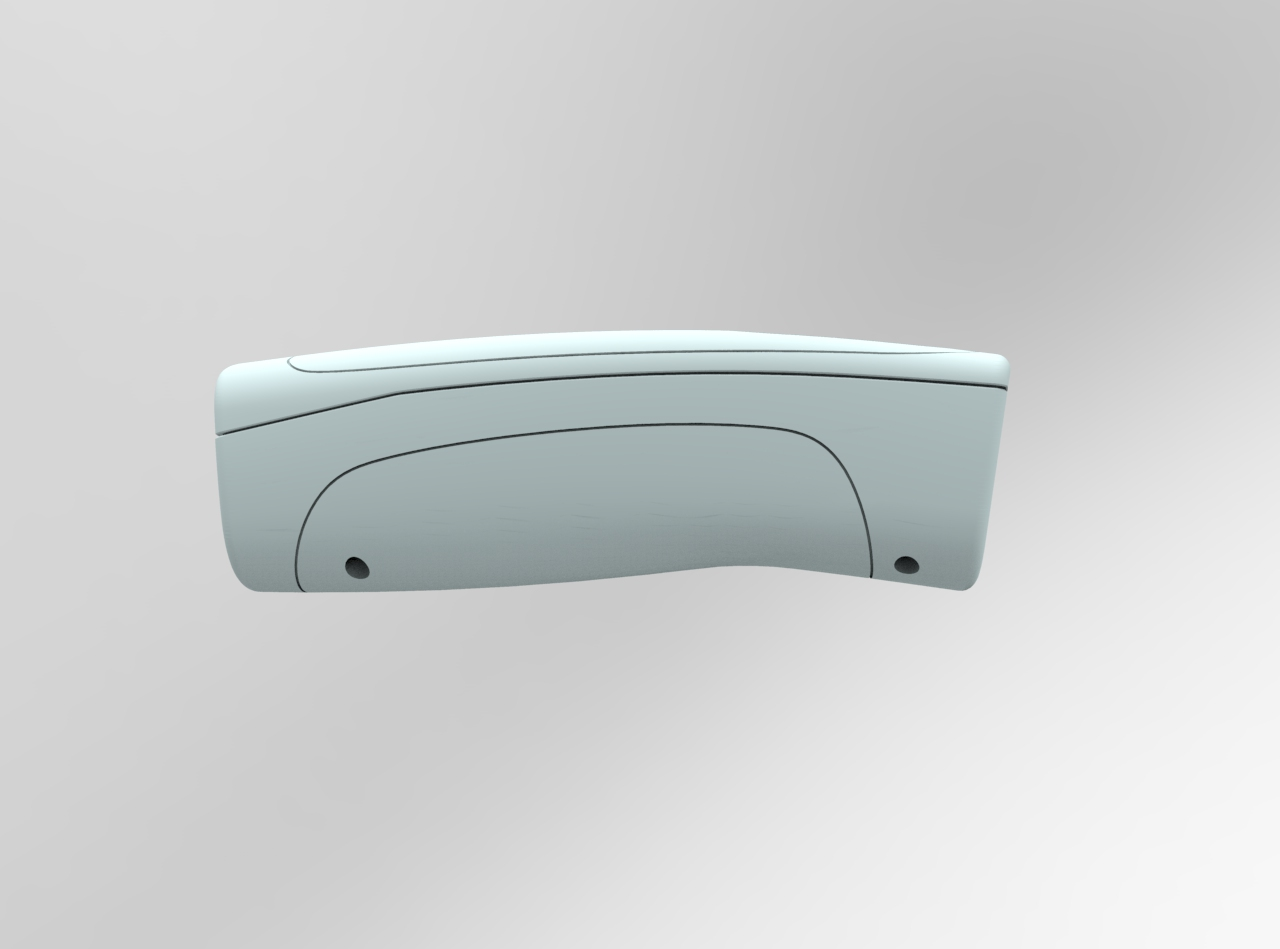 CAD rendering hand unit - compound curves and modern lines