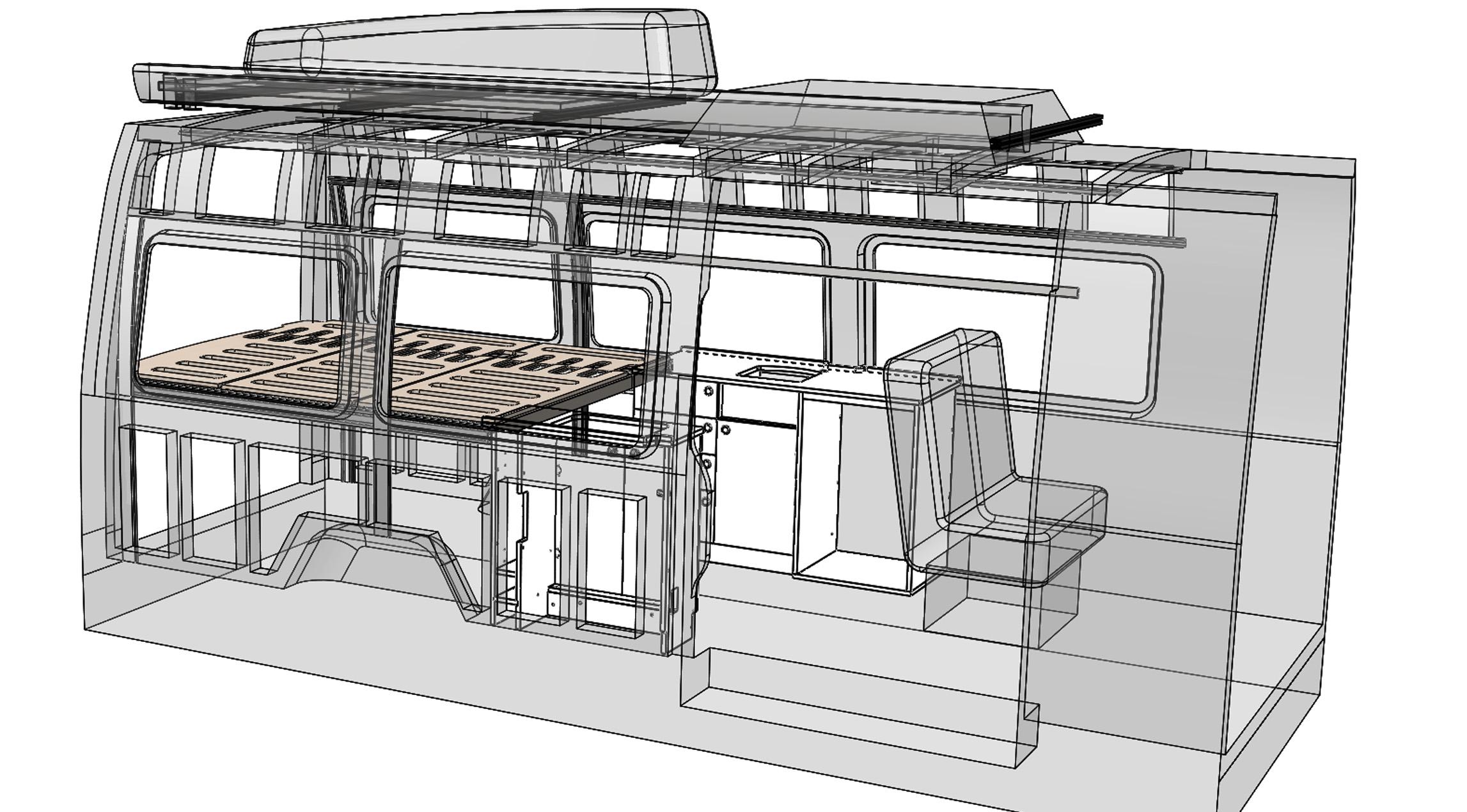 SolidWorks CAD - adjustable bed
